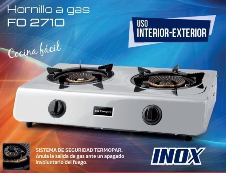 Hornillo Orbegozo FO2710 2gas Interior-exterior