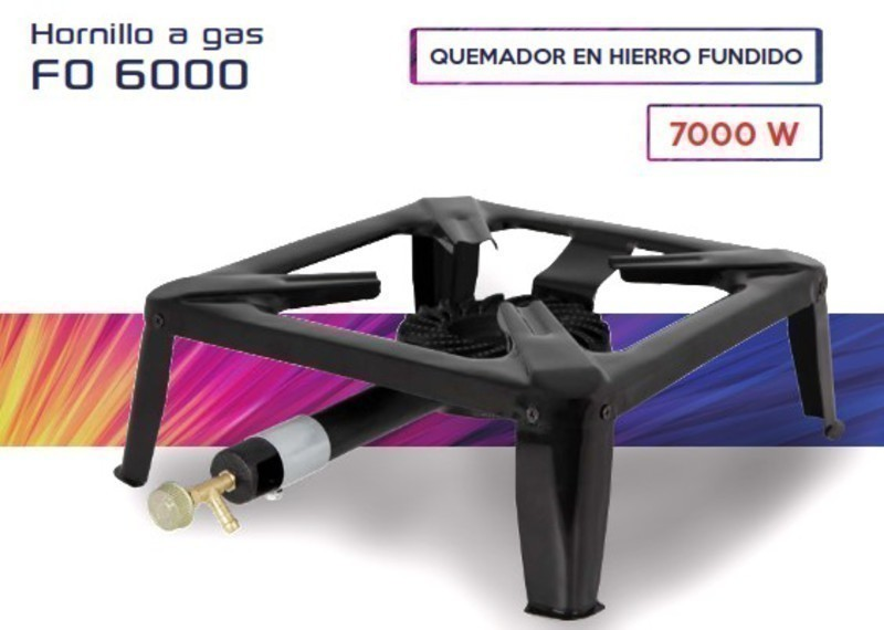 Hornillo Orbegozo FO6000 1 F Gas 7000w Sobremesa