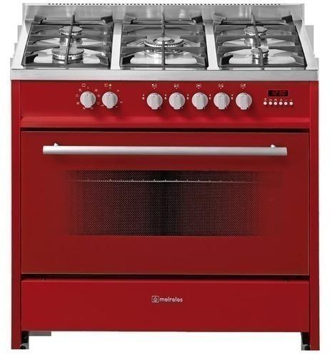 Cocina Meireles E911 R 5 Fuegos Horno Roja A