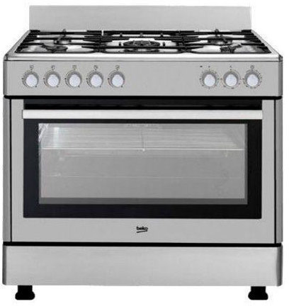Beko cocina gm15121dx inox 5f horno electrico b for Cocina y horno electrico