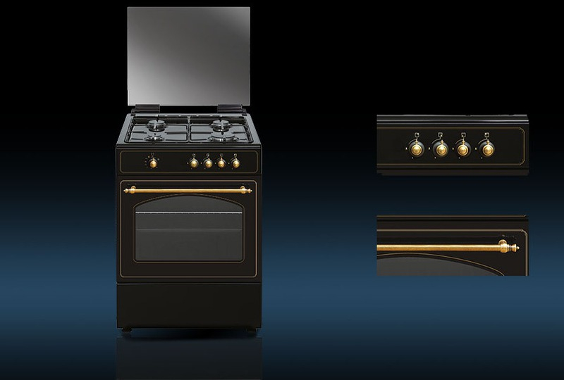 Cocina Vitrokitchen RU6060N 4f 60cm Natural Horno