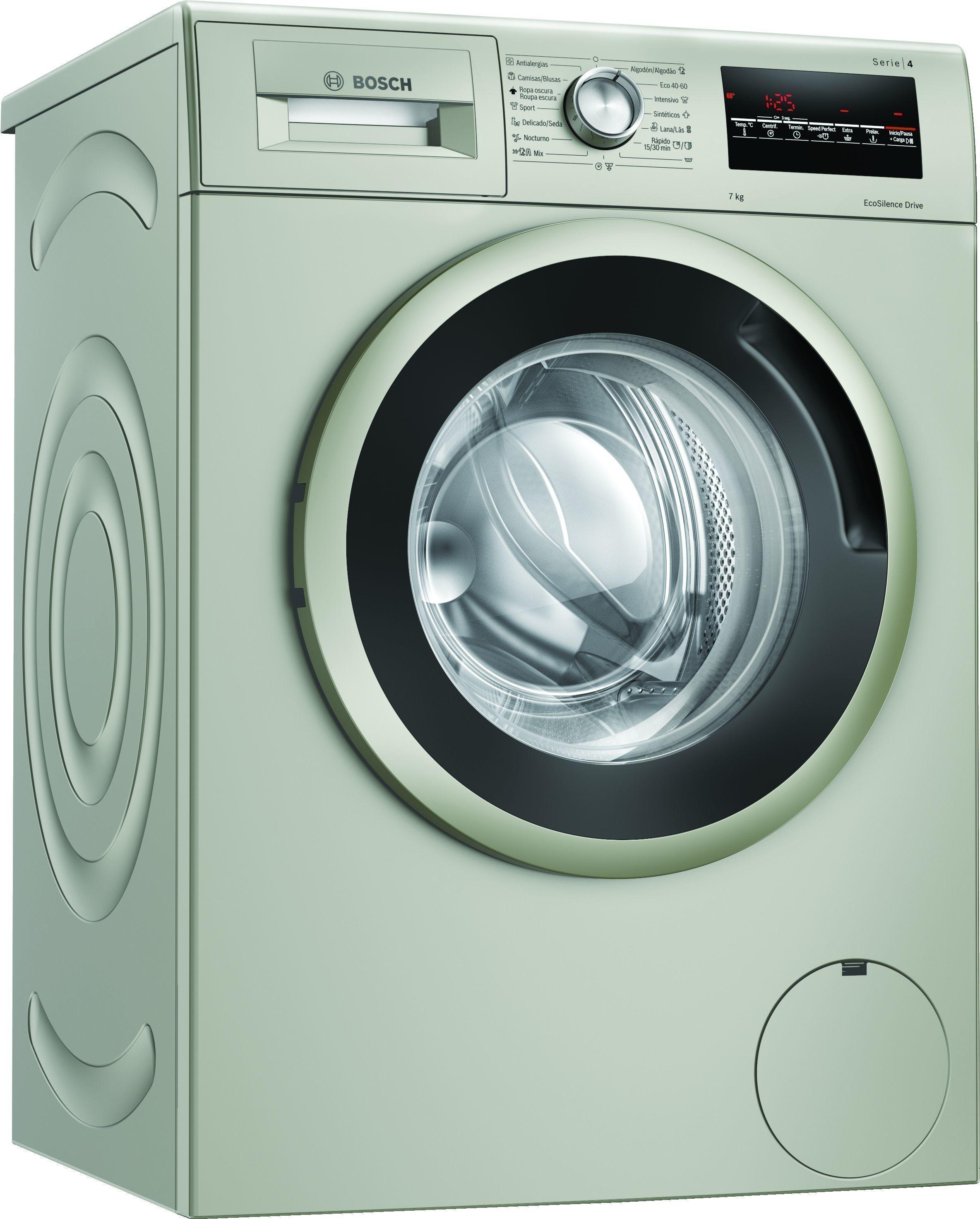 Lavadora Bosch WAN2427XES 7kg 1200 Inox A+++ -10%
