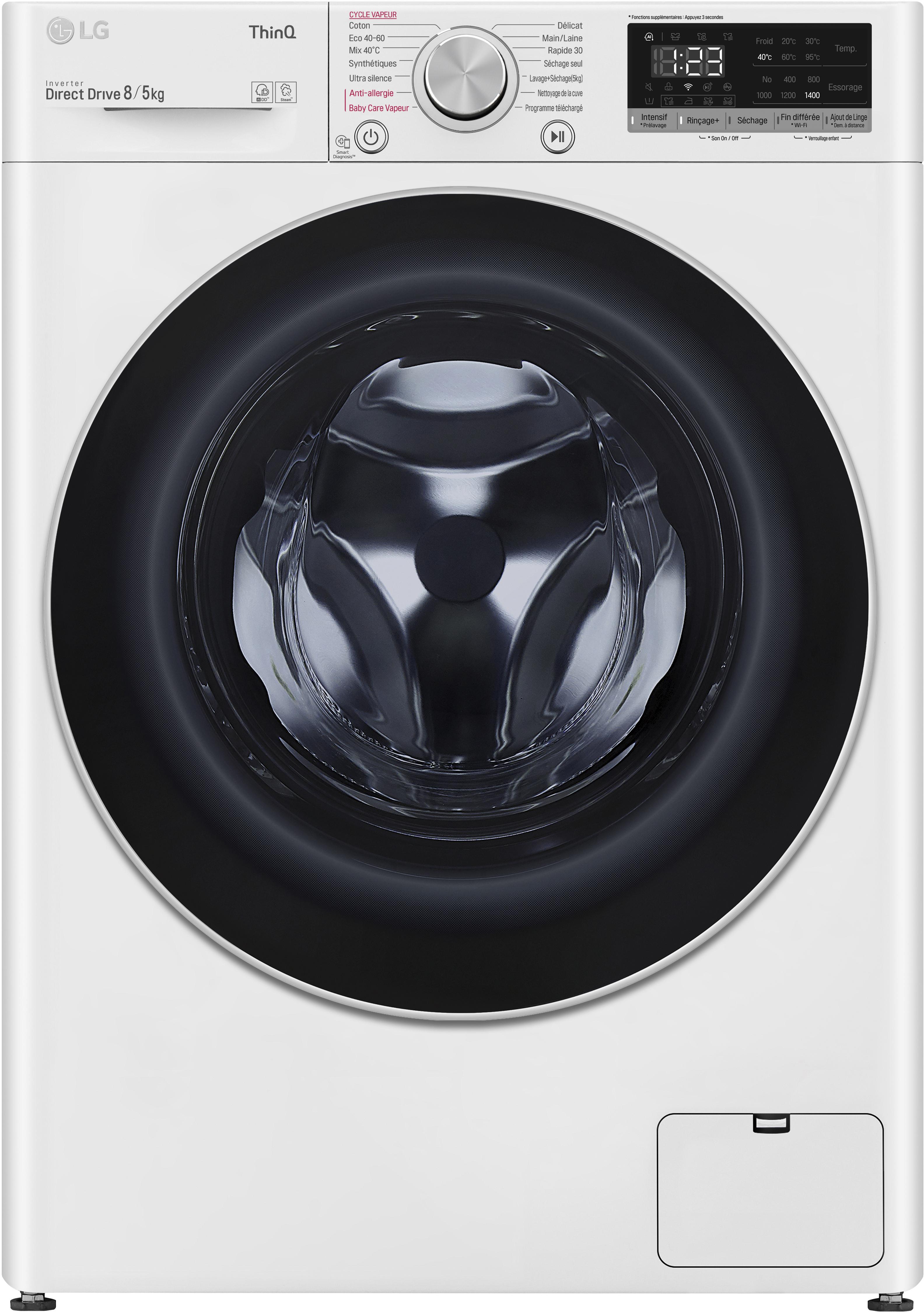 LG LAVASECADORA F4DN4008S1W 8KG+ 5 KG 1400 A