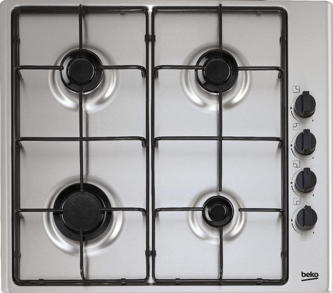 Beko placa hizg64101sx 4 gas butano indep inox placa gas - Placa cocina gas ...