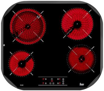 Placa Teka TC6400 4ovalada Vitro Touch Negra(9024)