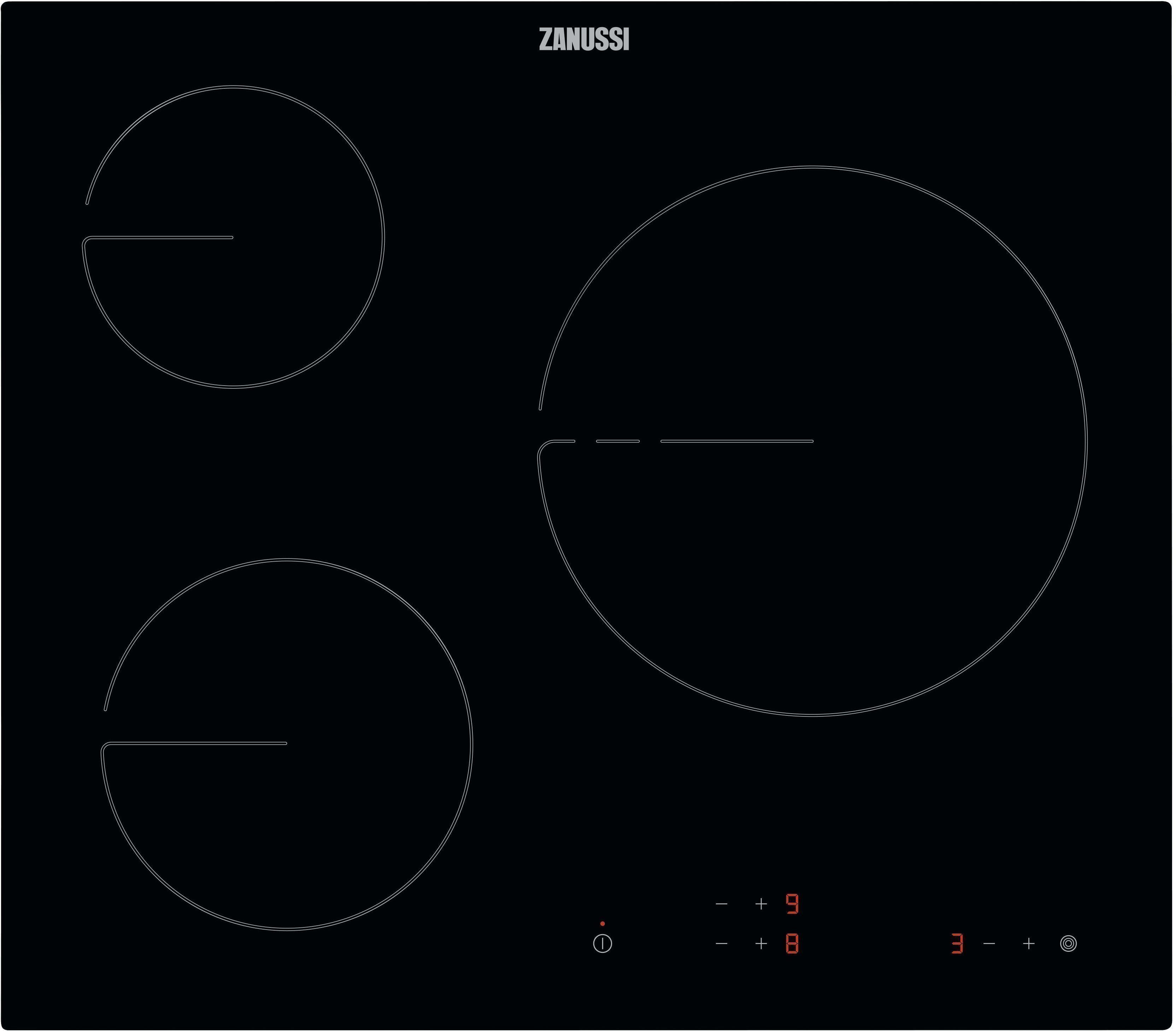 Placa Zanussi ZHRK639K 3vitro Touch Sin Marco