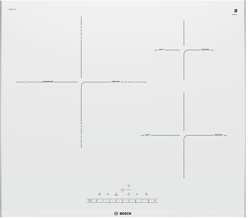 Placa Bosch PID672FC1E 3induccion Blanca