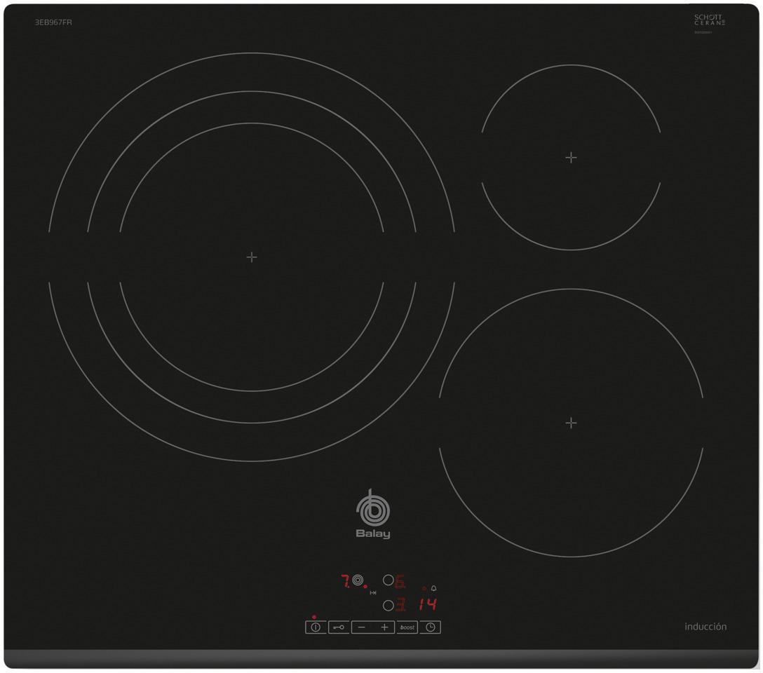 Placa Balay 3EB967FR 3induccion 1 Zona 32cm
