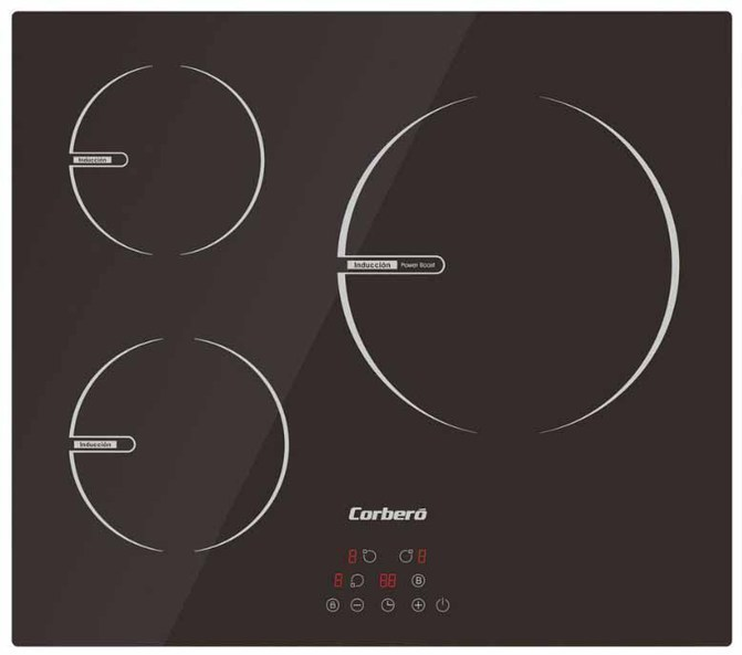 Placa Corbero CCIBR6003 3induccion Cristal Negro