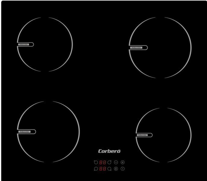 Placa Corbero CCIBR6004 4induccion Cristal Negro Negro
