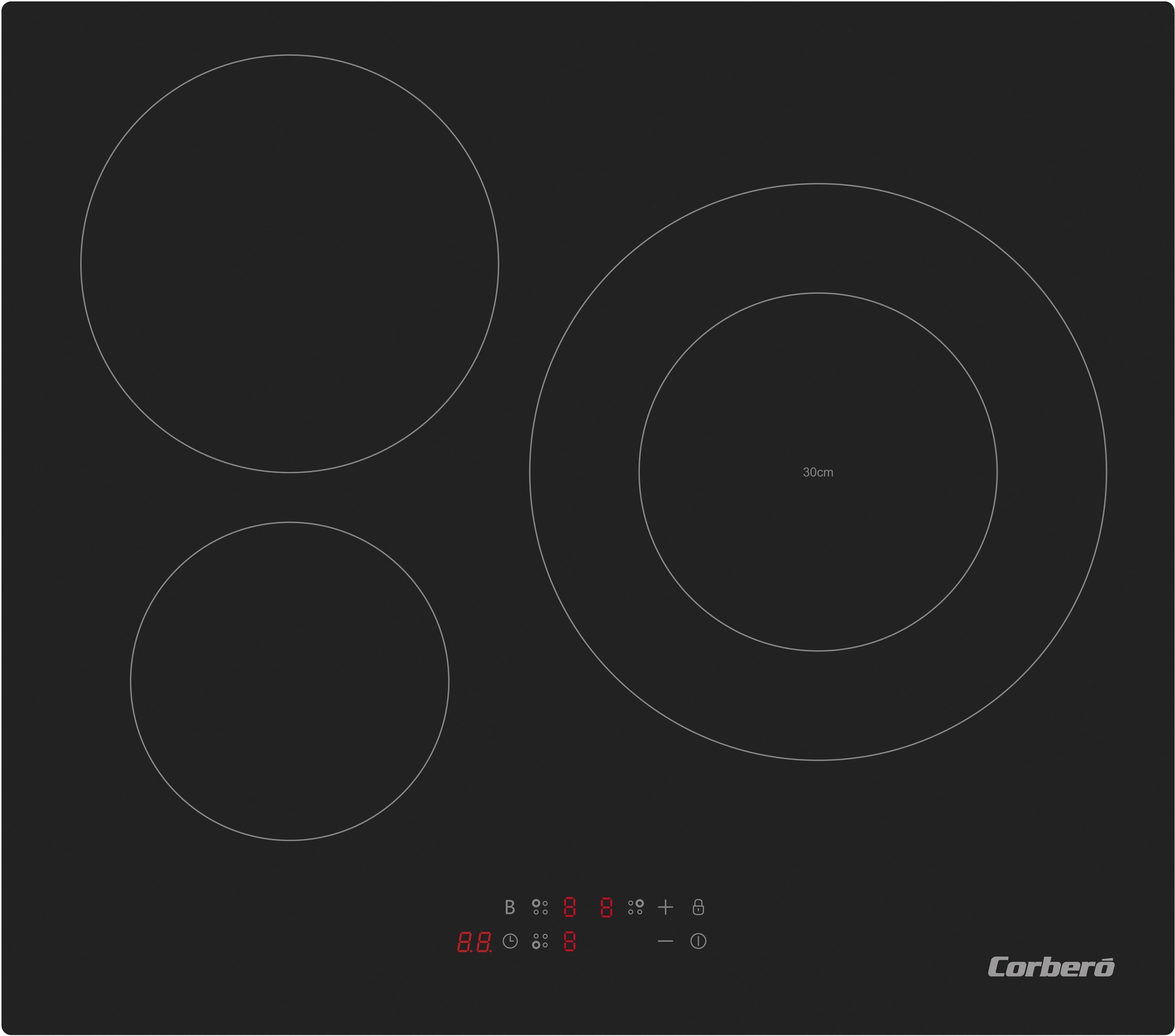 Placa Corbero CCIM3F300 3induccion Zona 30cmts