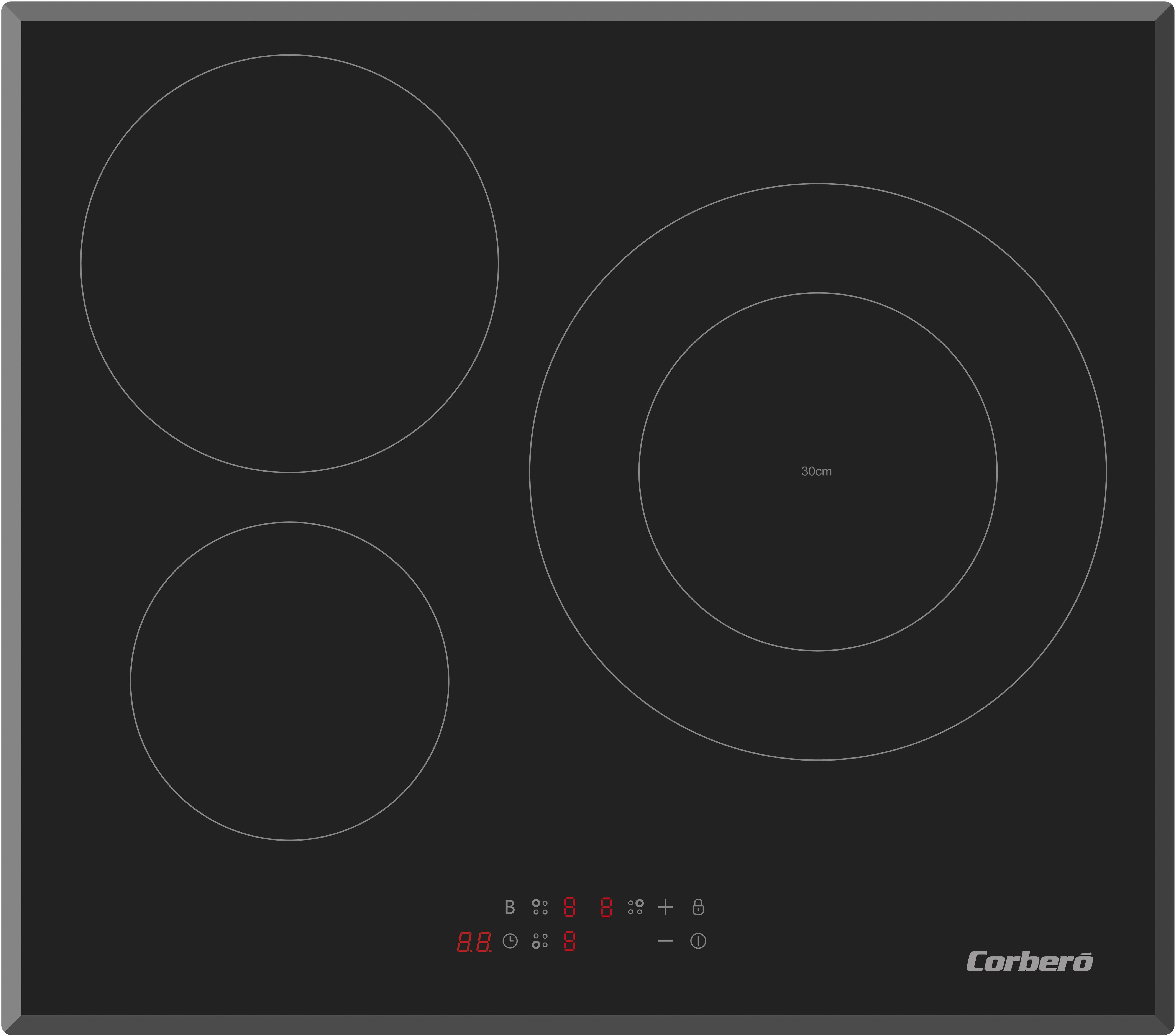 Placa Corbero CCIM3FBS310 3induccion 1doble 30cm