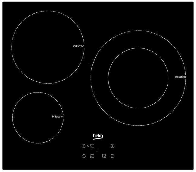 Placa Beko HII63402MT 3induccion Touch