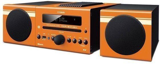 Compacto Yamaha MCRB043 Alarma Bluetooth Naranja