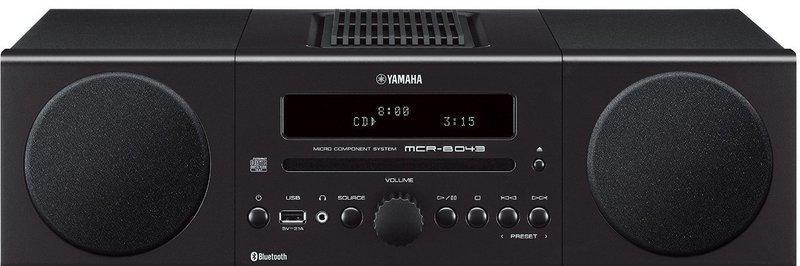 Compacto Yamaha MCRB043 Alarma Bluetooth Negro