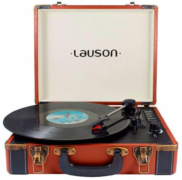 Tocadiscos Lauson CL605 Usb Bluetooth Marron