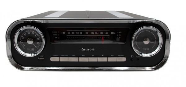 Tocadiscos Lauson O1TT16 Negro Bluetooth Vintage