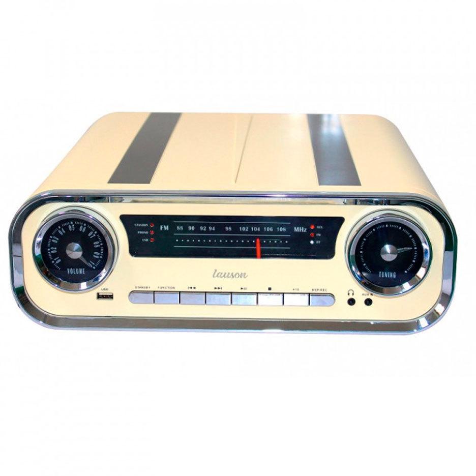 Tocadiscos Lauson O1TT15 Crema Bluetooth Vintage