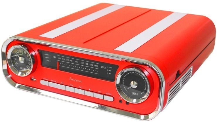Tocadiscos Lauson O1TT17 Rojo Bluetooth Vintage