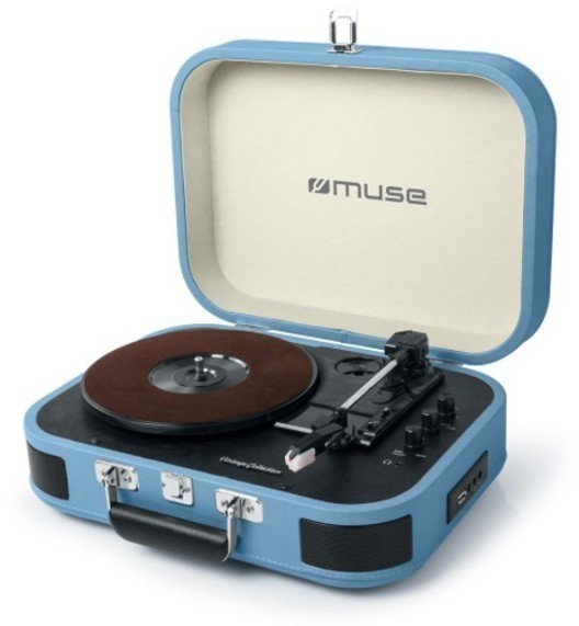 Tocadiscos Muse MT201BTB Usb Bluetooth Azul Azul