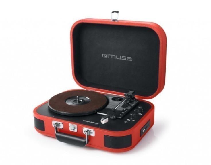 Tocadiscos Muse MT201BTP Usb Bluetooth Rojo