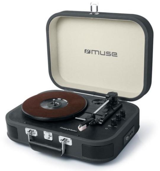 Tocadiscos Muse MT201DG Usb Bluetooth Negro