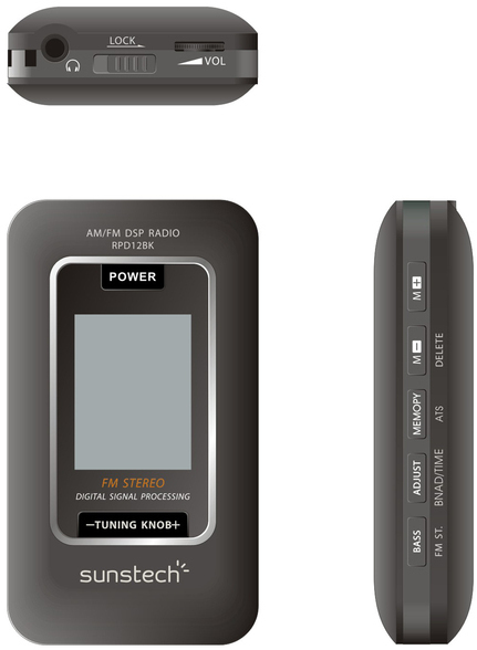 Radio Sunstech RPD12BK Digital Am/fm