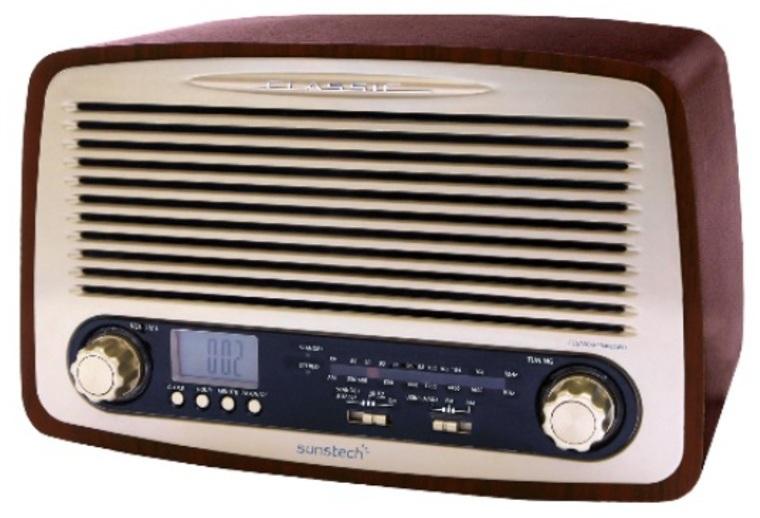Radio Sunstech RPR4000WD Retro Madera Analogica