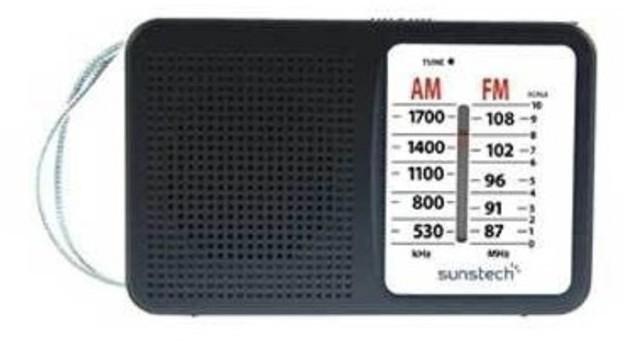 Radio Sunstech RPS411BK Negra Analogica
