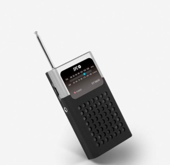 Radio Spc 4573N Icy Am/fm Plata/negro Clip Clip