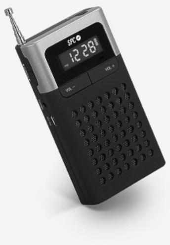 Radio Spc 4583N Icy Pro Am/fm Plata/negro Clip