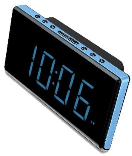 "Radioreloj Sunstech FDR28BL 6,5"" Alarma Dual"