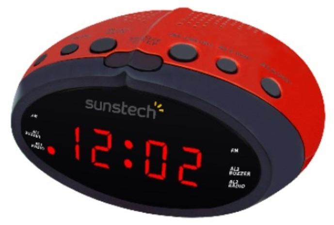 Radioreloj Sunstech FRD16RD Digital Rojo