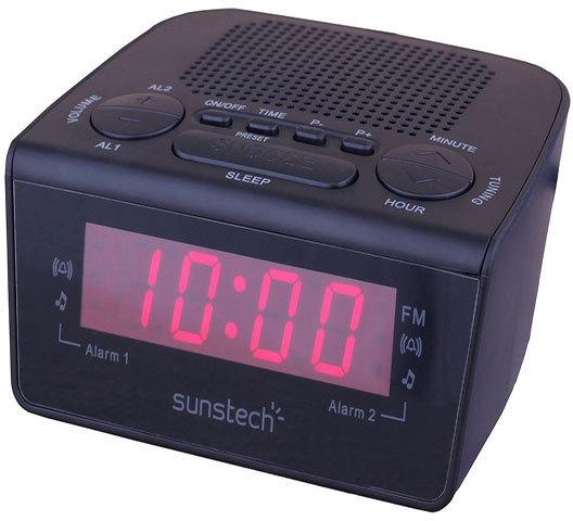 Radioreloj Sunstech FRD18BK Digital Negro