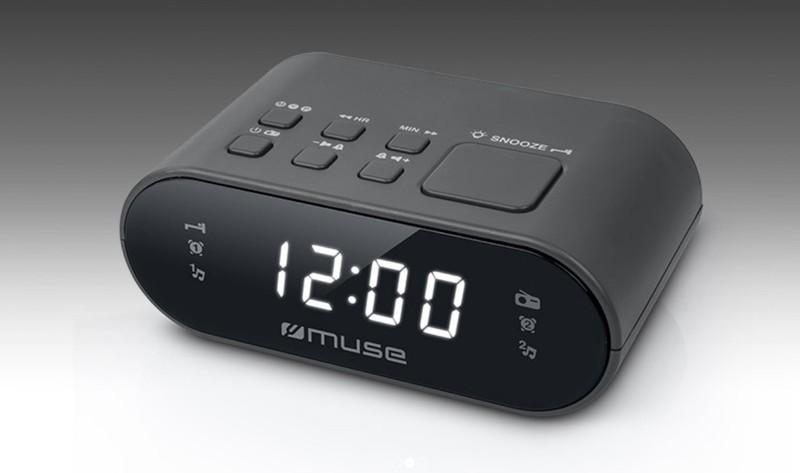 Radioreloj Muse M10CR Digital Negro