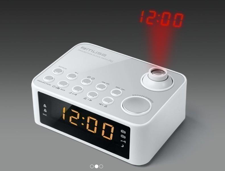 Radioreloj Muse M178P Digital Proyector Negro