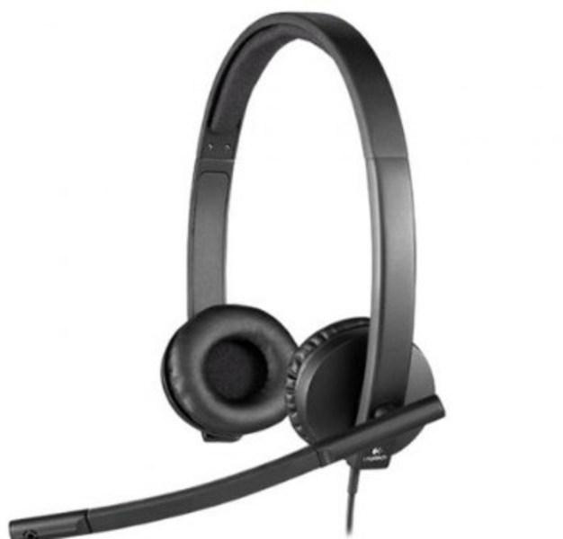 Auricular Logitech H570E Con Microfono Usb Negros