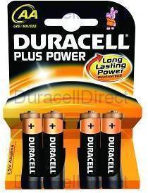 Pila Duracell AA(LR06)PLUS-POWER 4kp 4pilas
