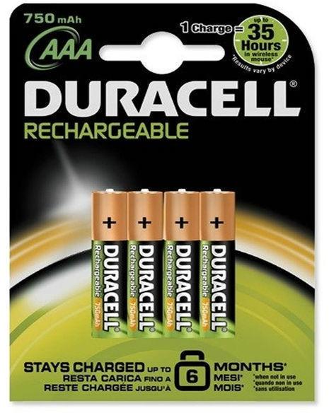 Blister Duracell RECARGABLE Aaa (lr 03) 750 Mah B4
