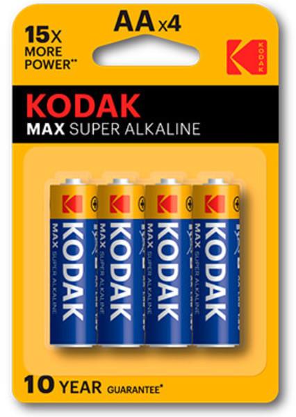 Pila Kodak AA Max Alcalina Lr6 Blister 4 Unidades