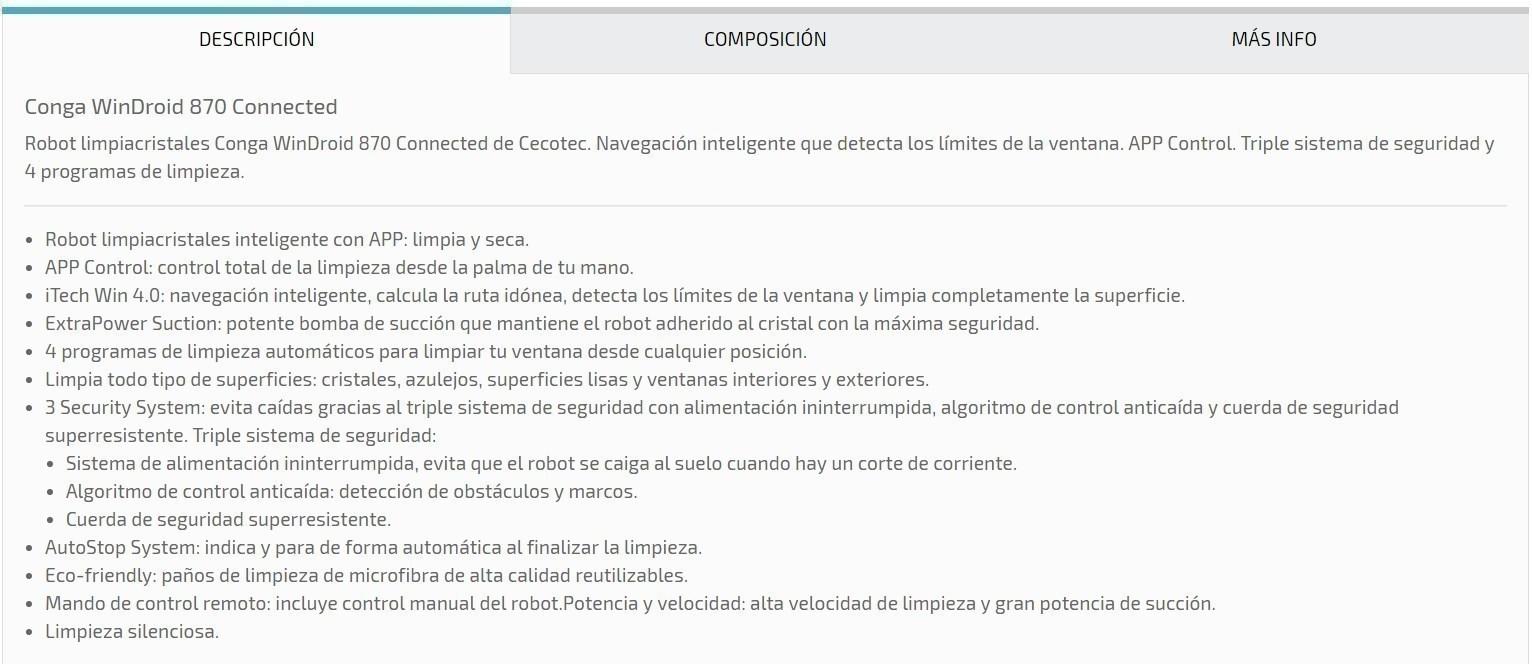 CECOTEC LIMPIACRISTALES WINDROID 870CONNE(05455)