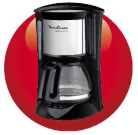Cafetera Moulinex FG150813 Goteo 6t Negra