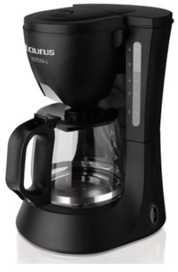 Cafetera Taurus VERONA 6 Goteo 6 Tazas Negra