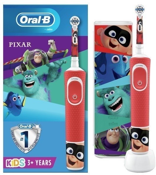 Cepillo Oralb DENTAL D100kids Pixar+estuche