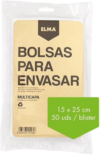 Bolsa Elma ENVASADORA Gofrado 15x30 (50ud) 15.16.1
