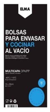 Bolsa Elma ENVASADORA Coccion 15x30 (50ud) 15.16.7