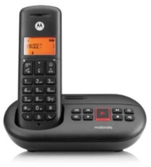 Telefono Motorola E211 Contestador Negro