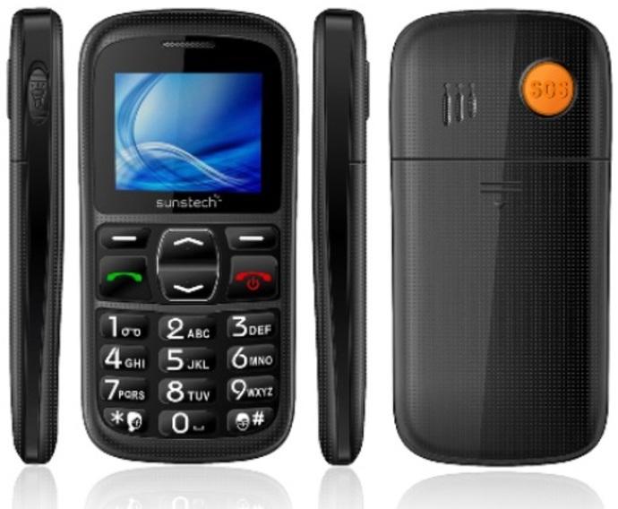"Telefono Sunstech CEL10BK 1,77"" Negro Libre"