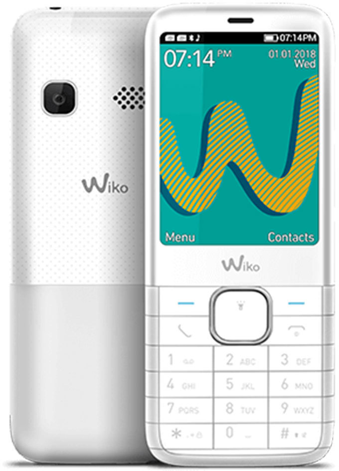"Telefono Wiko RIFF3 Plus 2.4"" Bluetooth Radio Blan"