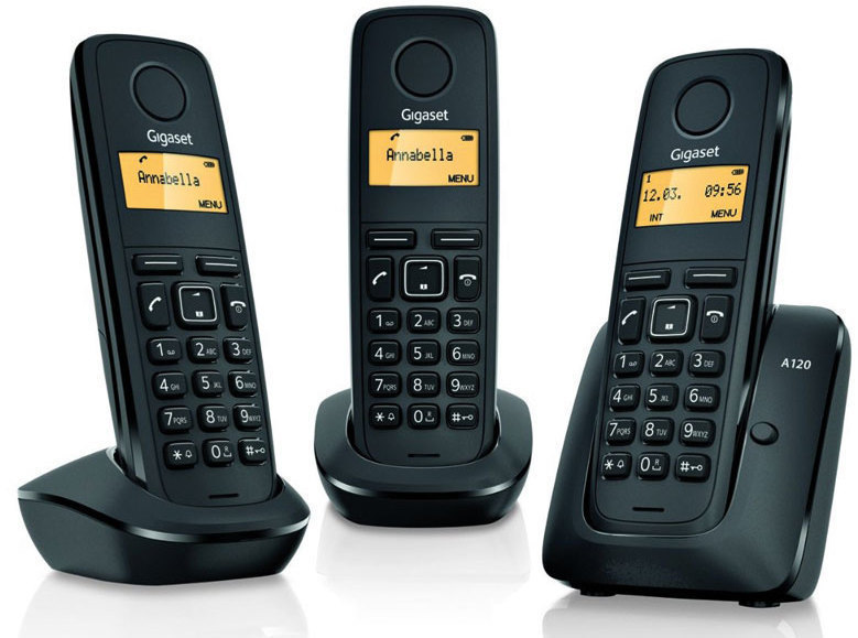 Telefono Gigaset A120 Trio Negro
